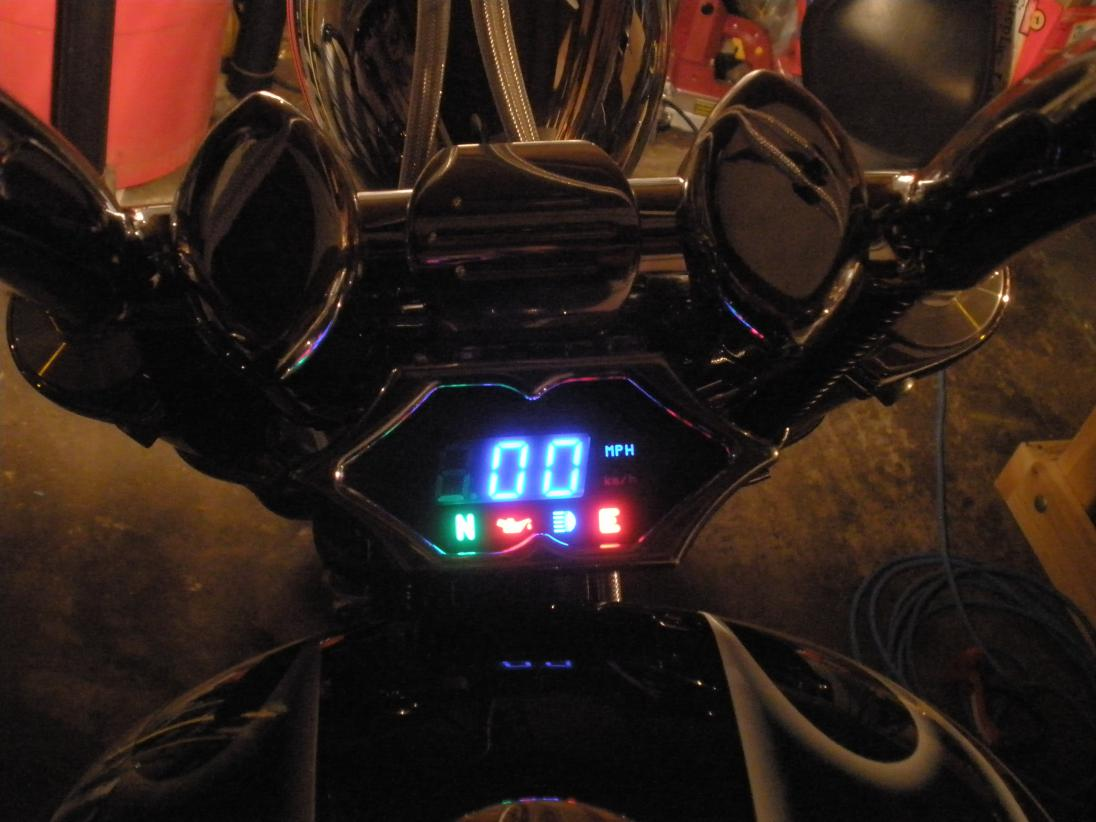 Digital Speedo Wiring Details Honda Fury Forums Chopper Forum Dakota Speedometer Diagram How The Fits Between Risers
