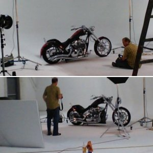 Brad doing photo shoot for V-Twin...Oct 2012