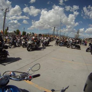 Hundreds of bikes rolling out