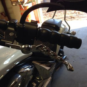 Finished installing the Kury Zombie levers. Gonna see how I like the chrome. Might get them refinished black.