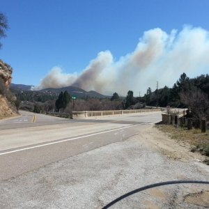Pine Creek Rd and Old Hwy 8, begiining of fire.