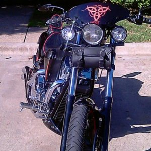 vincentsfury12 Graphics on wind sheild... Rockwall auto tint