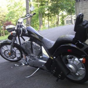 Chopper bag and sissy bar bag
