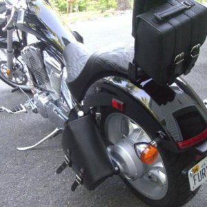 chopper bag & River Road sissy bar bag