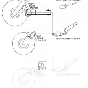 Linked Brake Conversion using ABS Calipers and Flex Lines