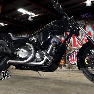 Honda Fury Exhaust SLK-Customs
