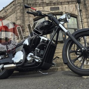 SLK-Customs Honda Fury VT1300 Exhaust
