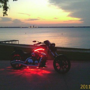 This is my favorite spot to watch the sun go down Lake Ray Hubbard and my baby at dusk,who could ask for more!