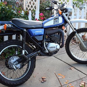 6th '75 Yamaha DT175 Purchased used '76, sold '78 These small 'eduro' motorcycles taught me more riding skills playing in the dirt than any street bik