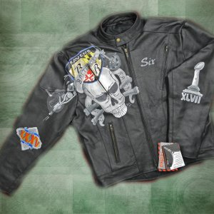 Painted Leathers............RavensSkullJacket