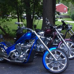 3 furys, myself and 2 good friends. its hard to believe we have the same taste in bikes!!
