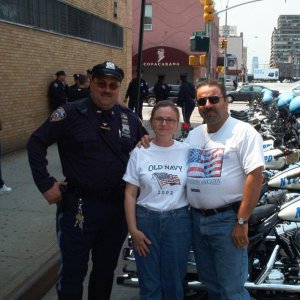9-11 Ride NYPD escort