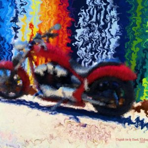 8 x 10 ordinary biker signed