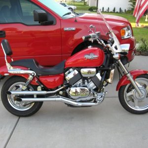 The old Honda Magna 750