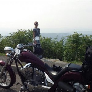 Honda Fury Blue Ridge PKWY 1