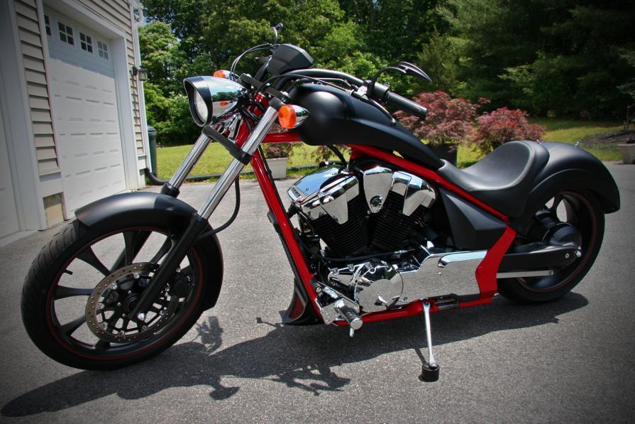 Honda fury custom black